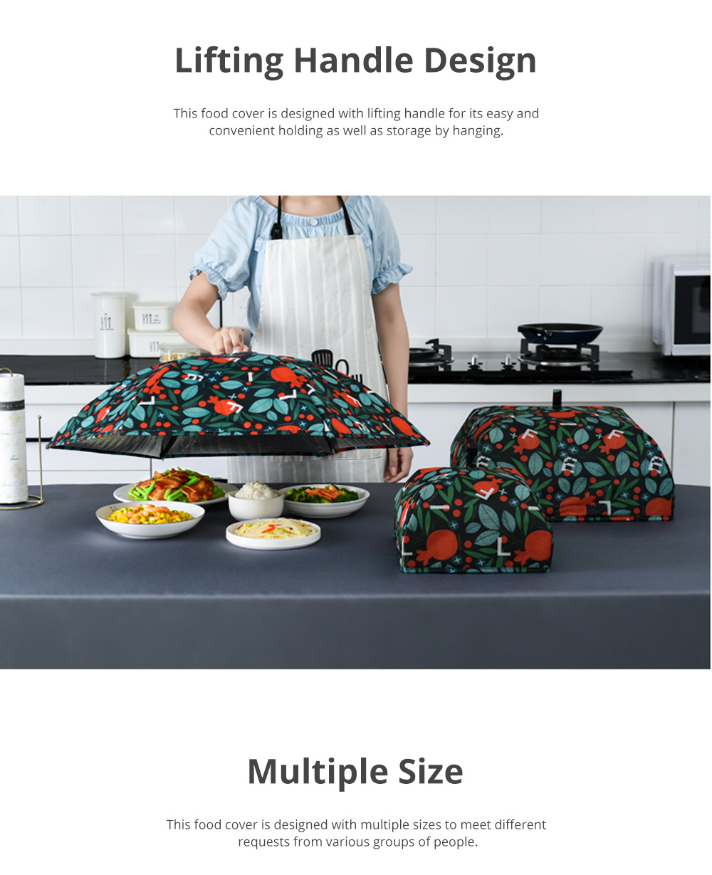 Nordic Style Keep Warm Food Cover for Family Use Dining Room Foldable Thermal Food Cover Anti-dust Table Cover 2