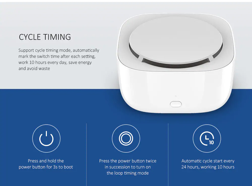 Xiaomi Portable Intelligent Smart Mijia Mosquito Repellent Device with Physical Mosquito Killing Easy Operation Long-lasting Battery Type 4