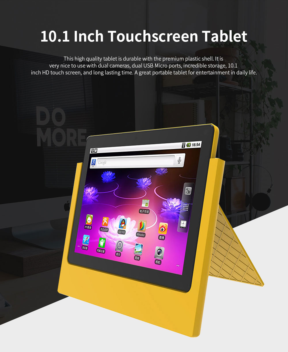 10.1 Inch Tablet PC Android 8.1 Dual Camera and USB 2GB RAM 16GB ROM Touchscreen Wifi Bluetooth Tablet with 6000mAh Battery 0