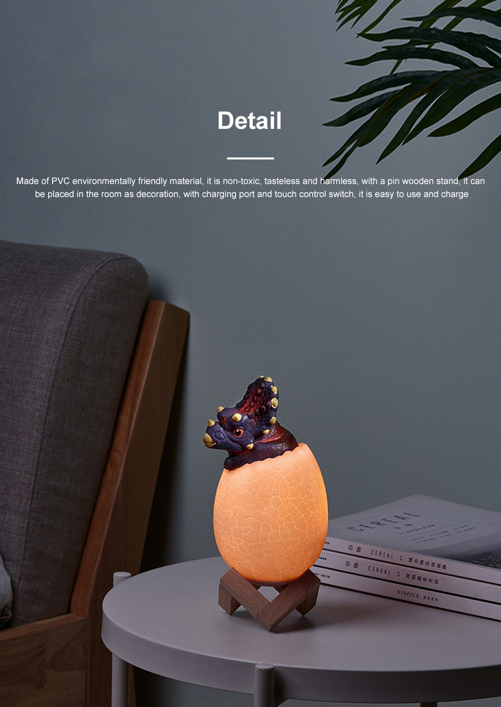 Creative USB Print 3D Dinosaur Night Light Decoration 16 Colors LED Night Lamp With Remote Control Gifts For Kids Children 4