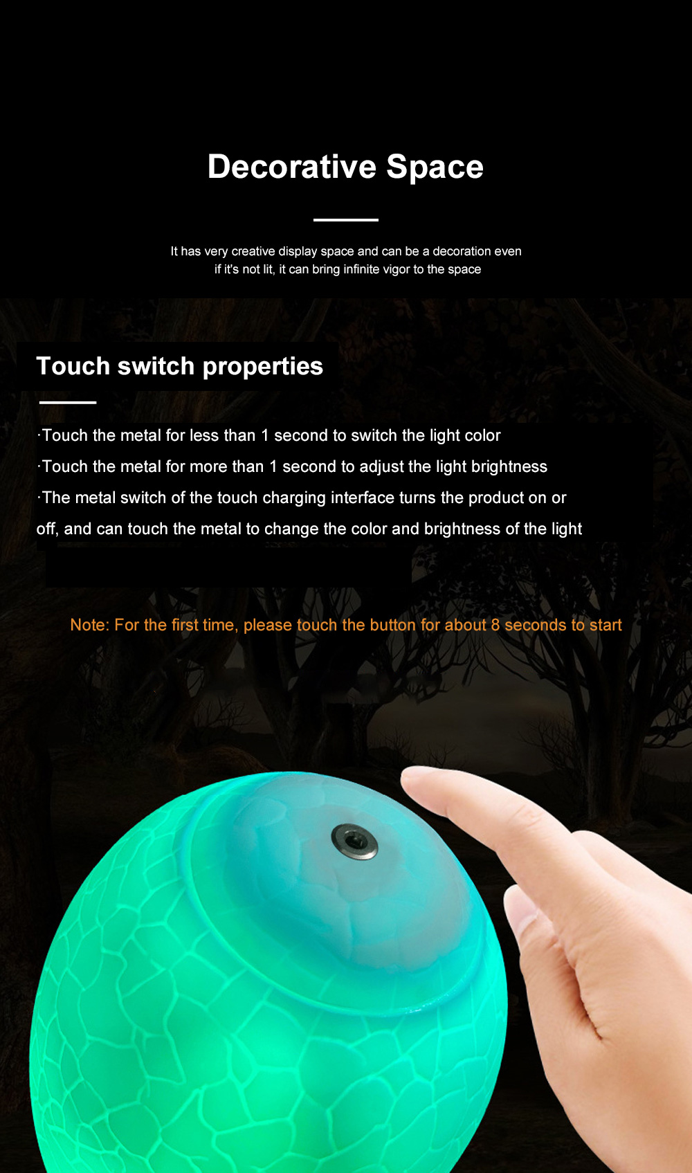 Creative USB Print 3D Dinosaur Night Light Decoration 16 Colors LED Night Lamp With Remote Control Gifts For Kids Children 3