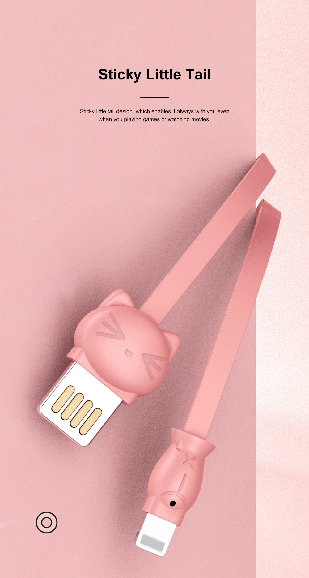 Pisen Original 1.2M Doll Data Line Transmission Charging 2-In-1 USB Data Cable with Cute Animal Doll Shape for iPhone X 8 7 6 5 4