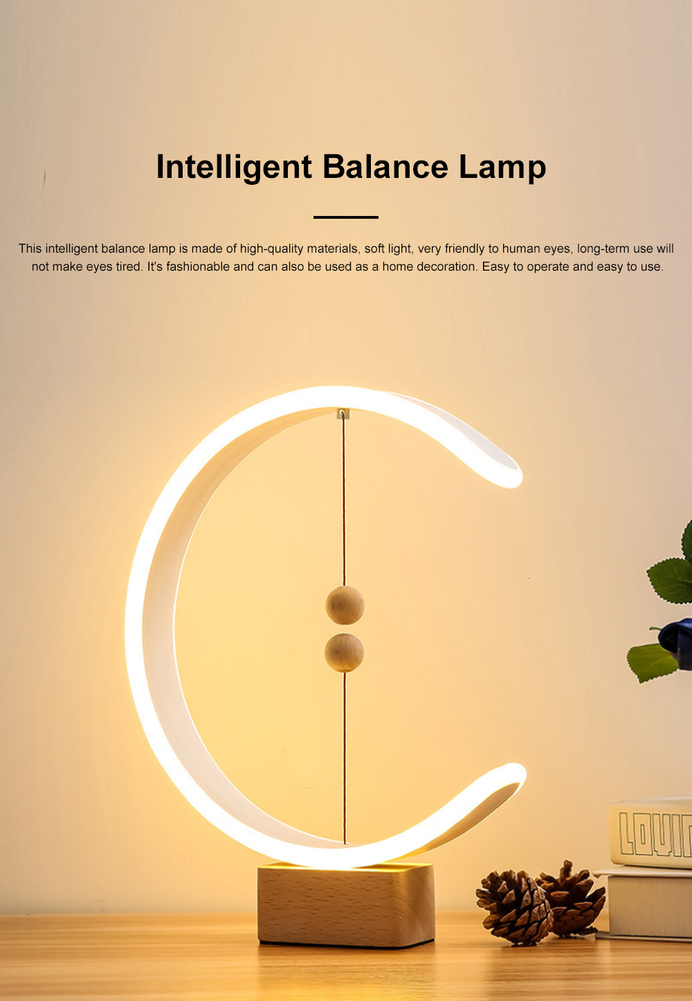 Intelligent Balance Lamp Magnetic Absorption LED Table Lamp Magnetic Suspension Lamp 0
