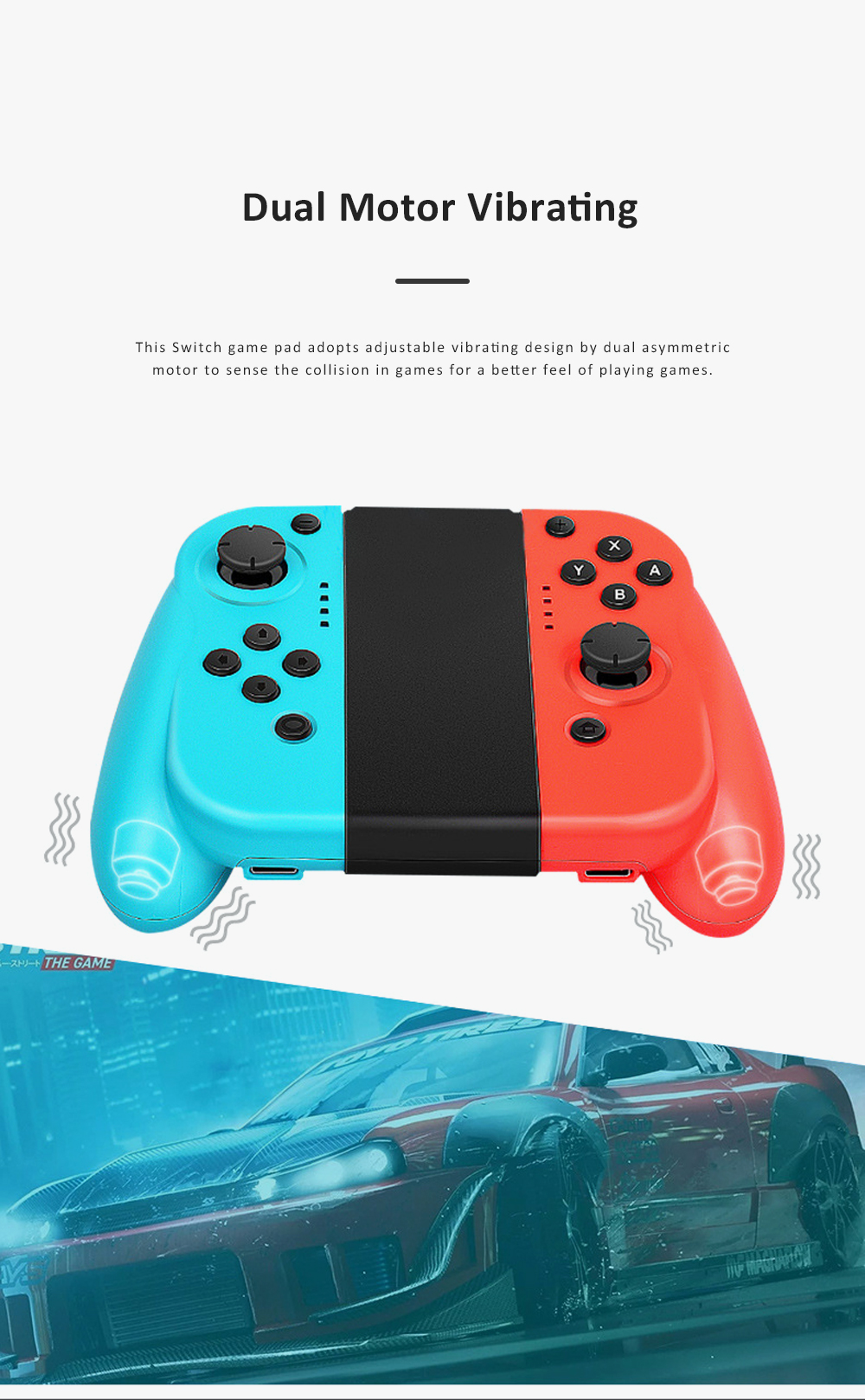 Left and Right Bluetooth Game Handle for Switch Game Machine Separated Repeating Vibrating Game Controller Wireless Joy-con Screen Shot Handles 4