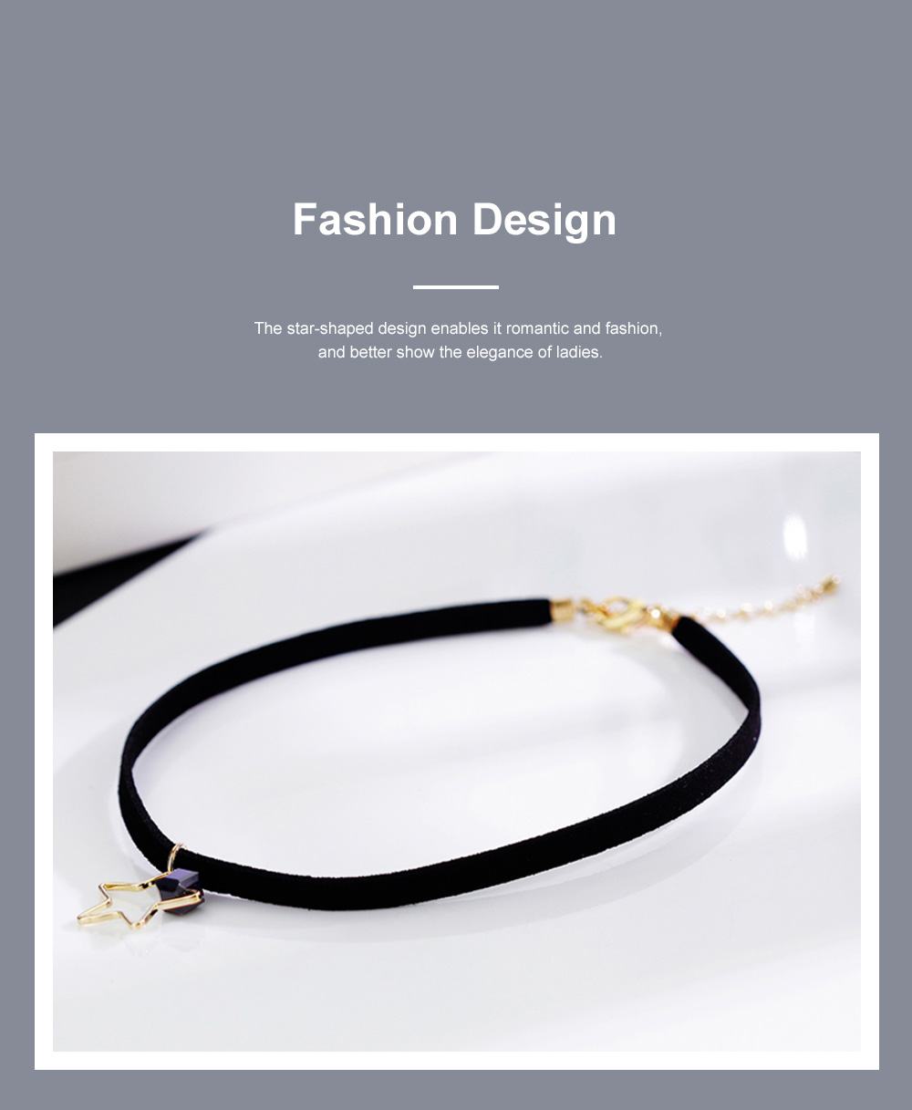 Fashion Star Choker Necklace Short Necklaces Bracelet Plated Rose Gold Neck Jewelry for Women Girls 4