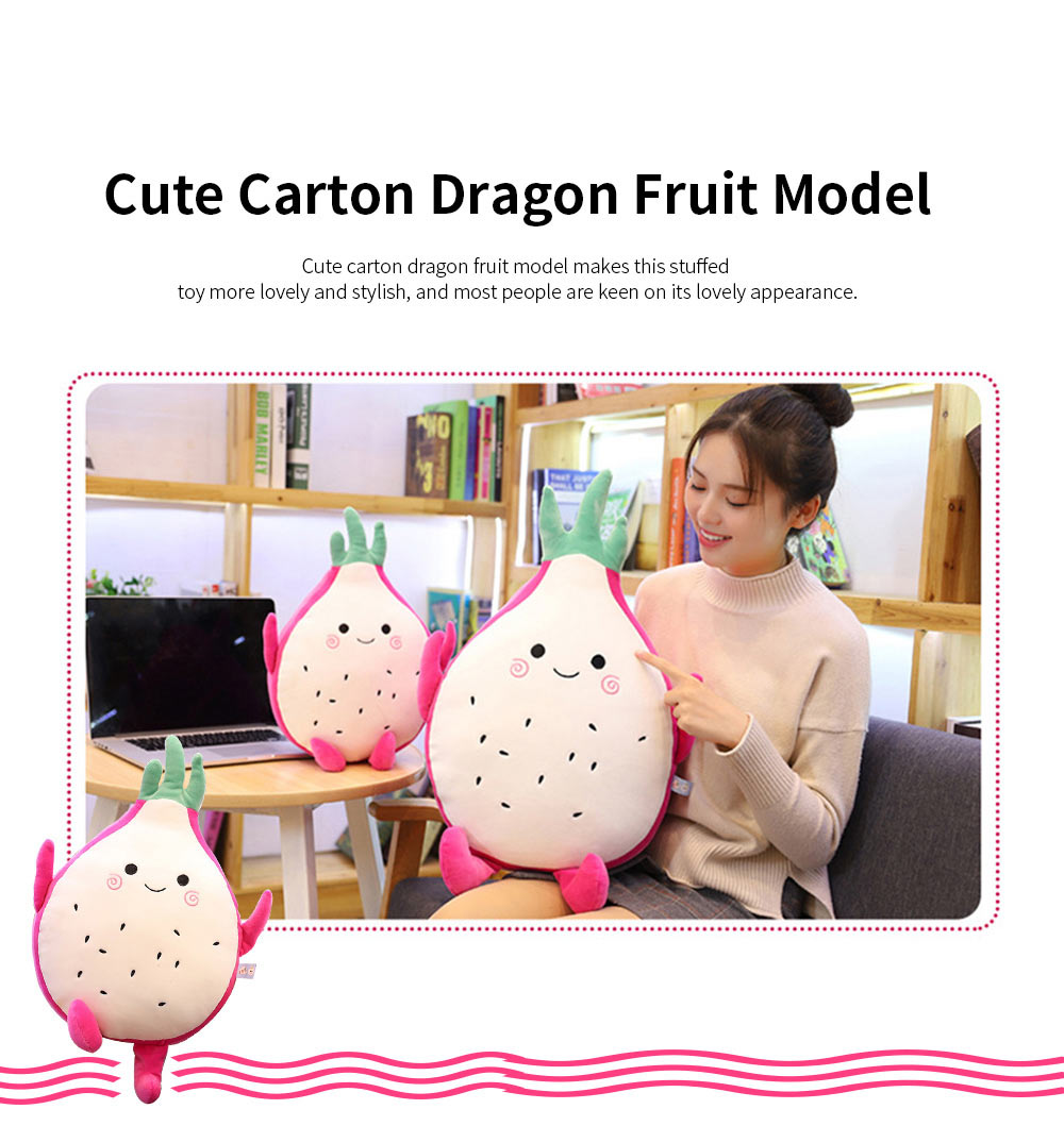 Cute Creative Imitation Cartoon Dragon Fruit Pitaya Stuffed Toy Plush Doll Bolster Cushion Children New Year Gift 3