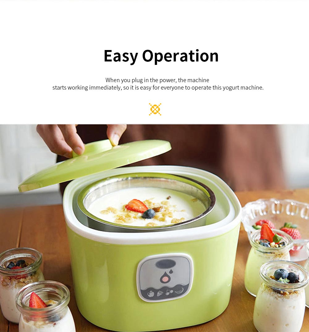 Easy Operation Intelligent Constant Temperature Automatic Electronic Rice Wine Yogurt Machine with Five Portable Sub Glass Cups 4