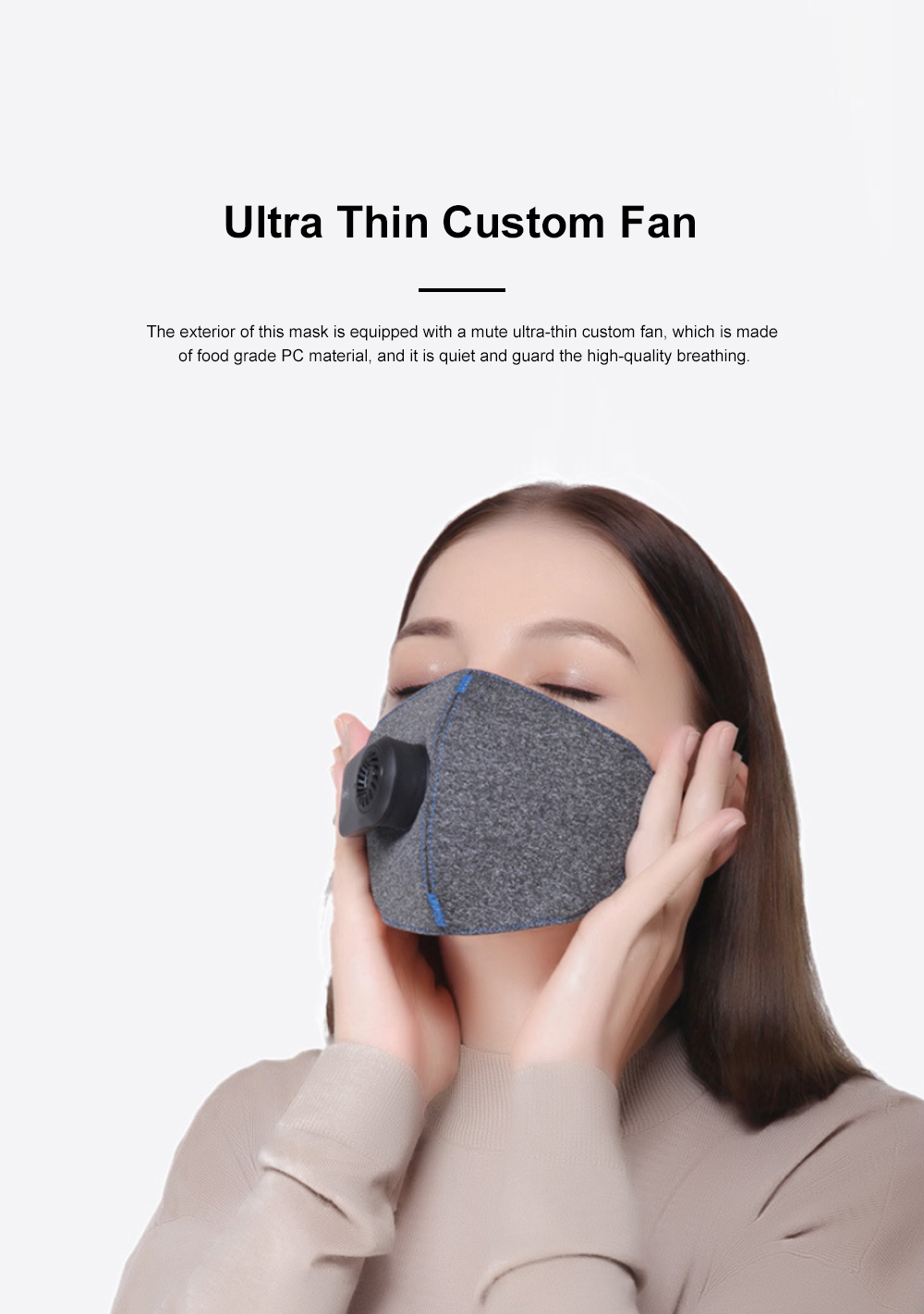 MI Purely Clean Air Haze Mask Anti-smog Anti Haze PM2.5 Dust Earhook Mask With Filter 2019 NEW 5