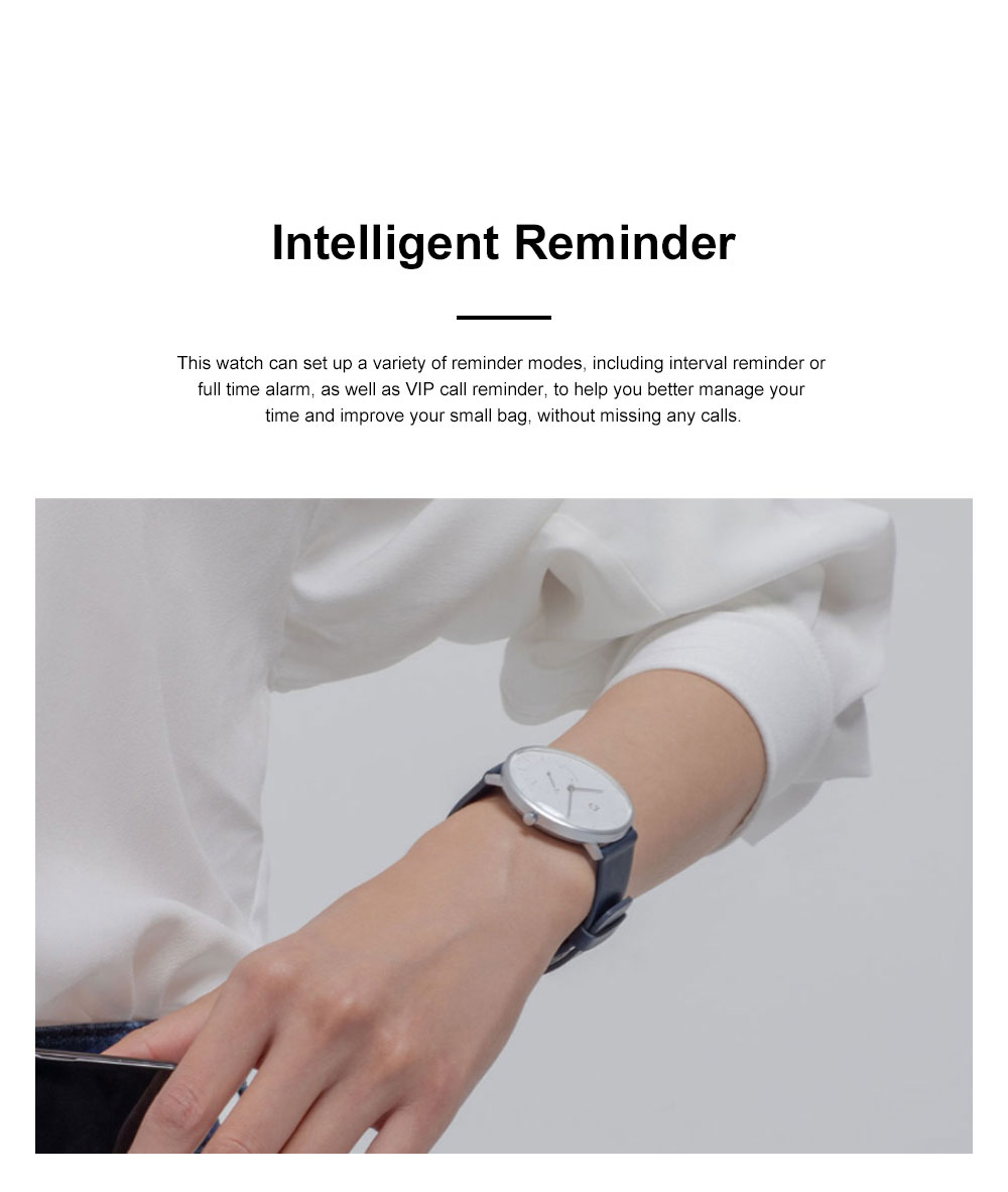 XIAOMI MIJIA Smart Quartz Watch Waterproof Android iOS Time Android Smartwatch with Waterproof Genuine Leather Band 1
