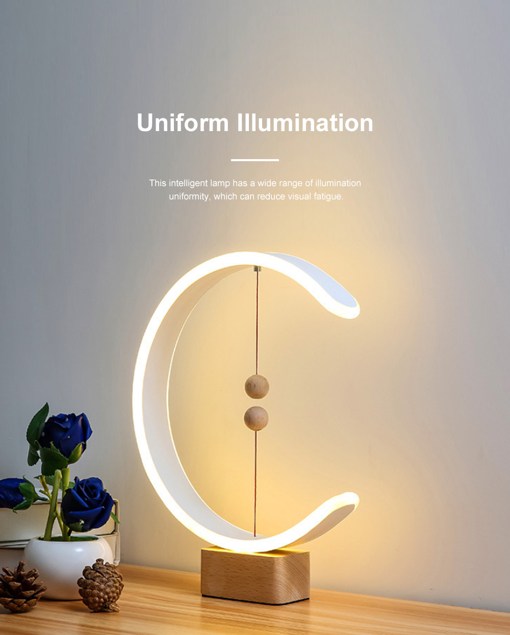 Intelligent Balance Lamp Magnetic Absorption LED Table Lamp Magnetic Suspension Lamp 2