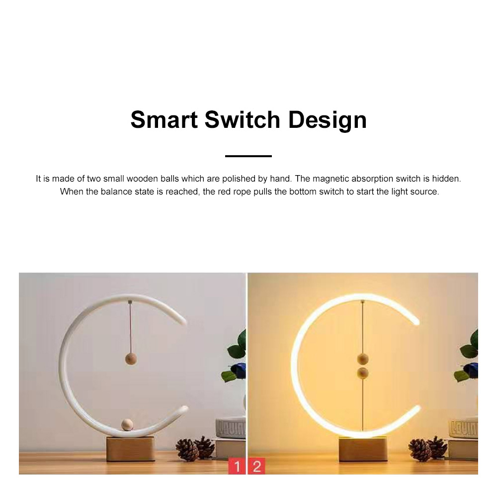 Intelligent Balance Lamp Magnetic Absorption LED Table Lamp Magnetic Suspension Lamp 3