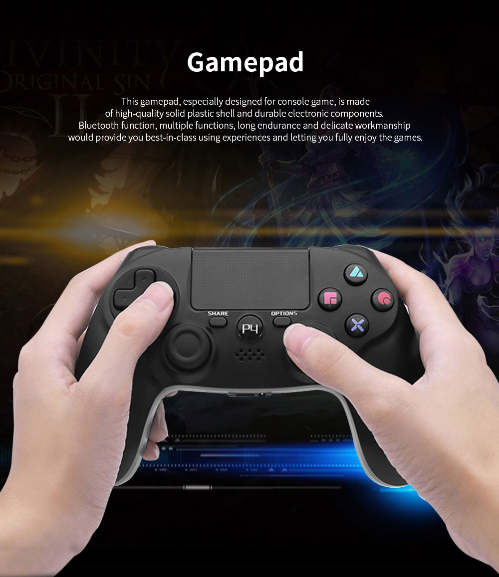 Easy Operation Long Endurance Multifunctional Ergonomics Designed Bluetooth Wireless PS4 Gamepad Games Console 0