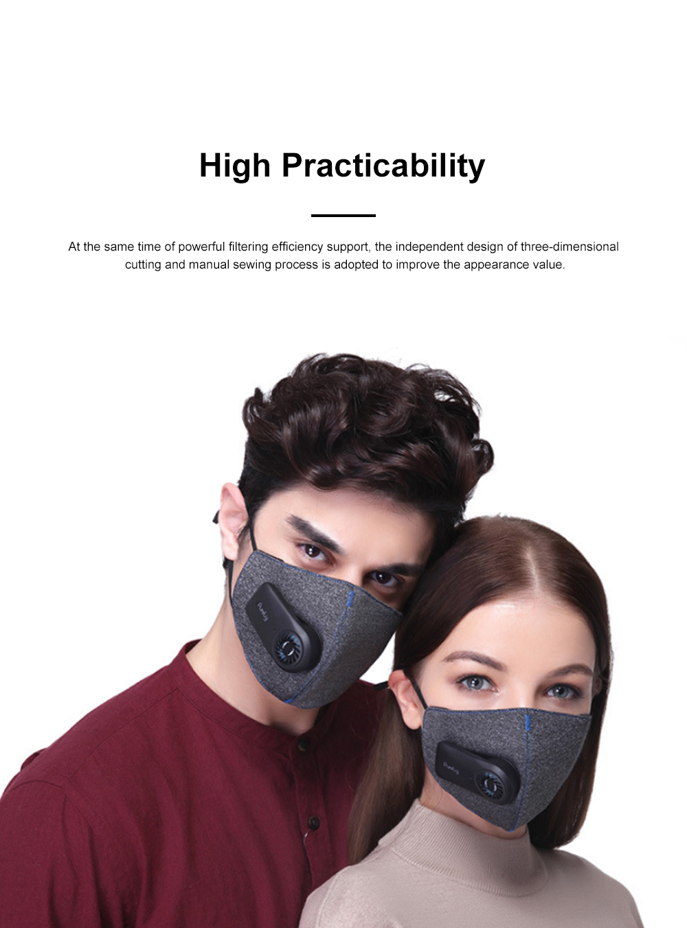 MI Purely Clean Air Haze Mask Anti-smog Anti Haze PM2.5 Dust Earhook Mask With Filter 2019 NEW 8