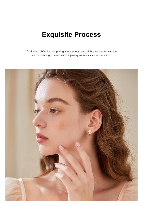 Cute Reindeer Earrings Studs for Women Asymmetrical Elk Stud Earrings Delicate 925 Silver Jewelry Earring Girls Gift 3