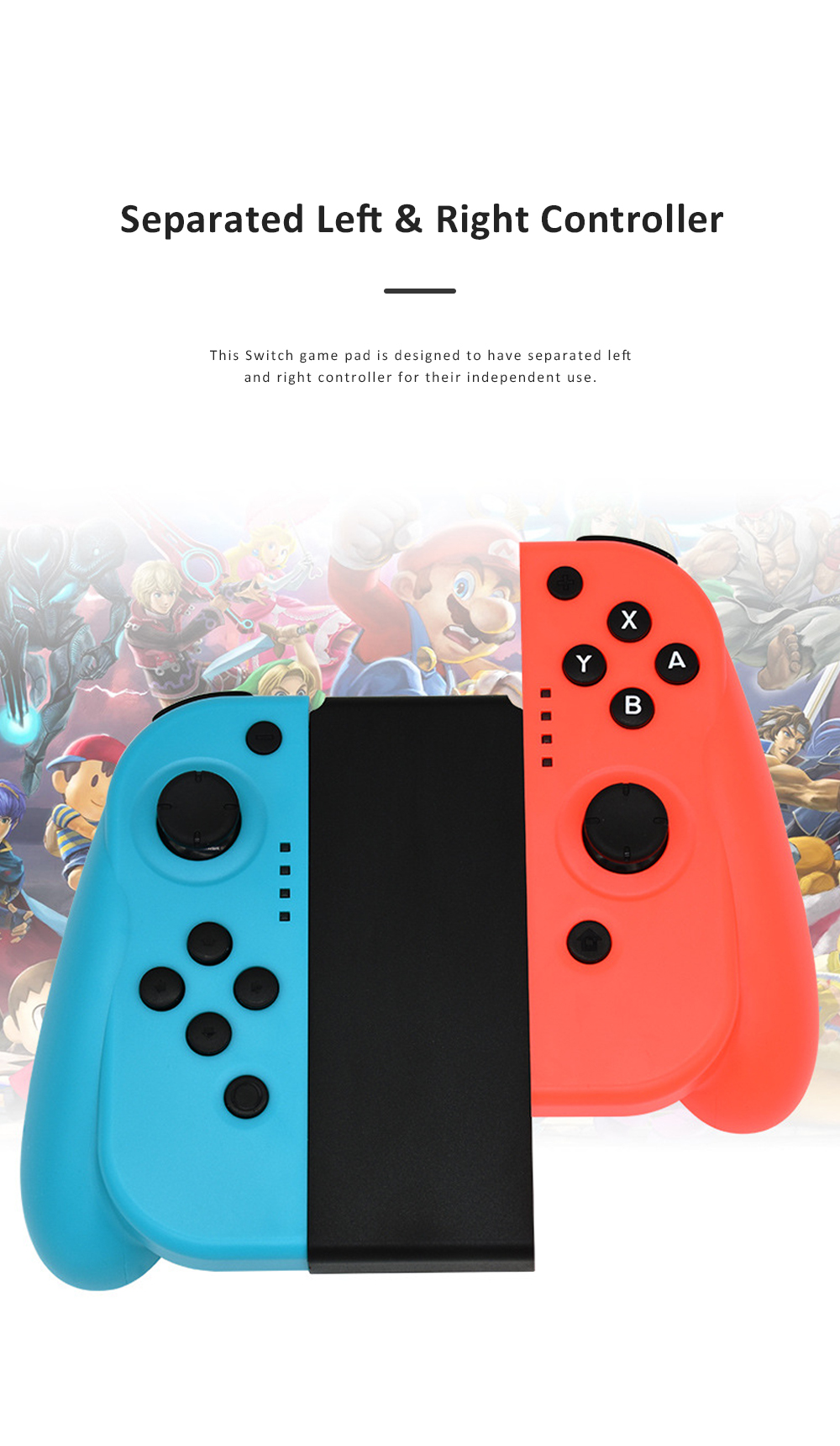 Left and Right Bluetooth Game Handle for Switch Game Machine Separated Repeating Vibrating Game Controller Wireless Joy-con Screen Shot Handles 1