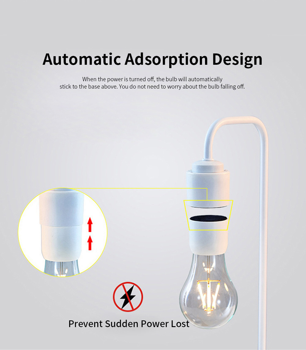 Creative Stylish Energy-conservation Mute Magnetic Suspension Light Table Lamp with Inductive Switch Anti-skid Base 2