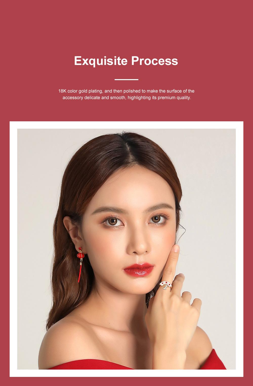 Chinese Lantern Dangle Earring Love Lucky Lantern Drop Earrings Dangle Vintage Ear Jewelry for Women Girls 2