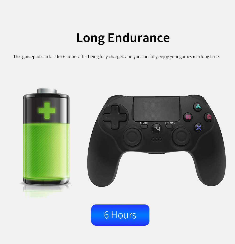 Easy Operation Long Endurance Multifunctional Ergonomics Designed Bluetooth Wireless PS4 Gamepad Games Console 3