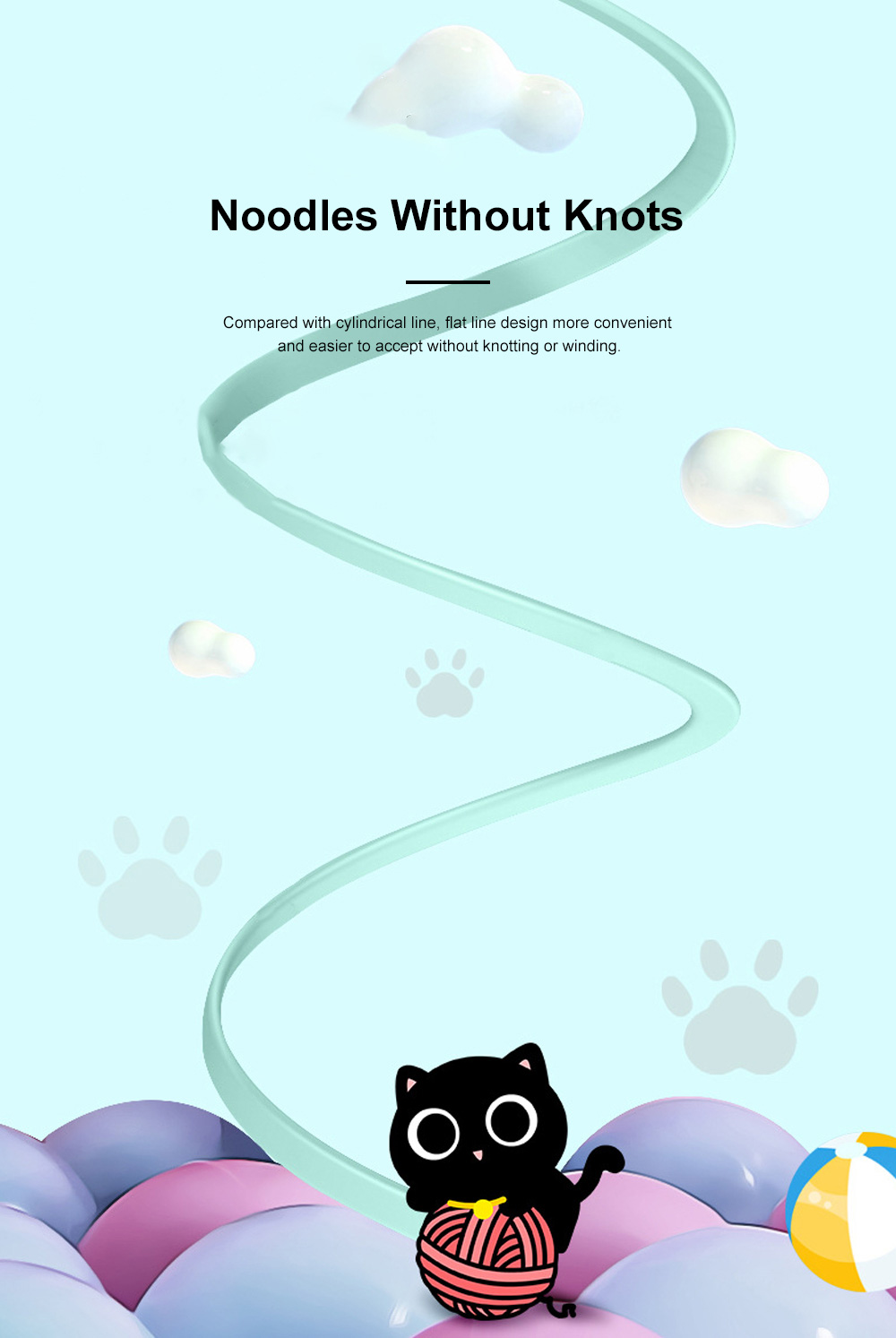 Pisen Original 1.2M Doll Data Line Transmission Charging 2-In-1 USB Data Cable with Cute Animal Doll Shape for iPhone X 8 7 6 5 1