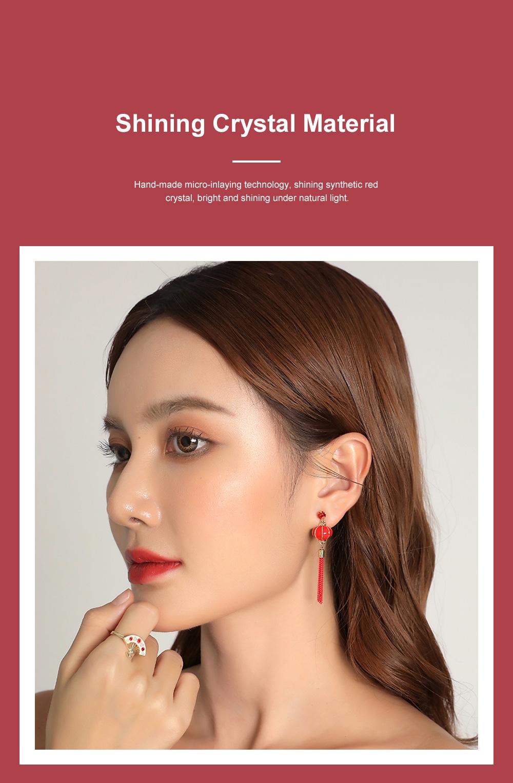 Chinese Lantern Dangle Earring Love Lucky Lantern Drop Earrings Dangle Vintage Ear Jewelry for Women Girls 4