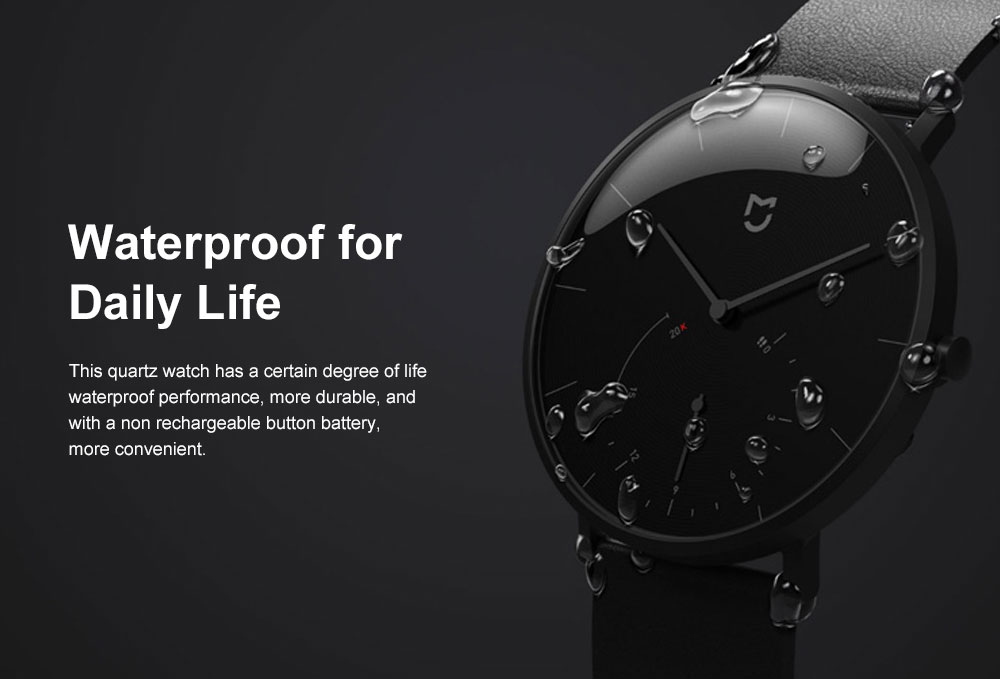 XIAOMI MIJIA Smart Quartz Watch Waterproof Android iOS Time Android Smartwatch with Waterproof Genuine Leather Band 7