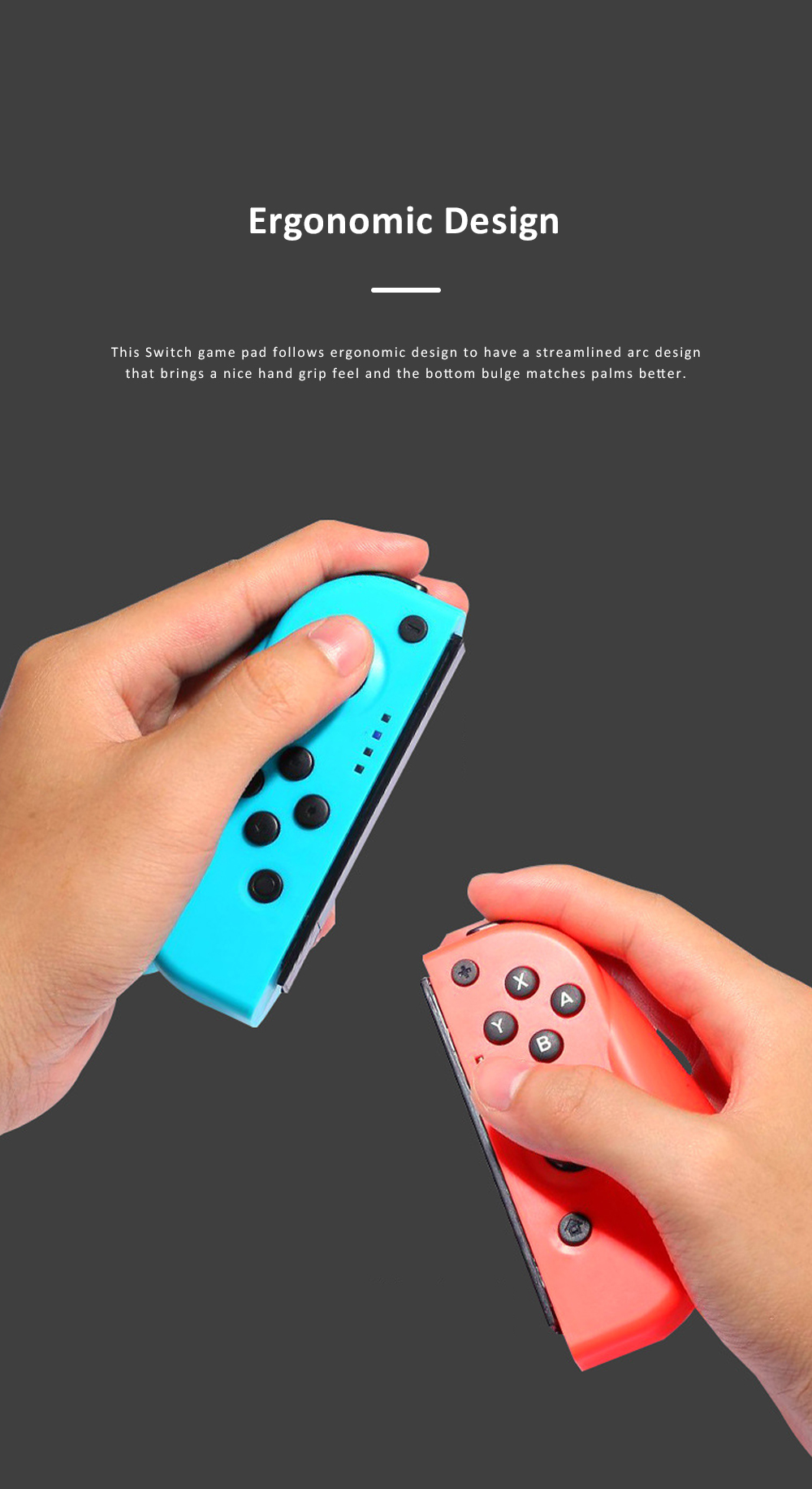Left and Right Bluetooth Game Handle for Switch Game Machine Separated Repeating Vibrating Game Controller Wireless Joy-con Screen Shot Handles 2