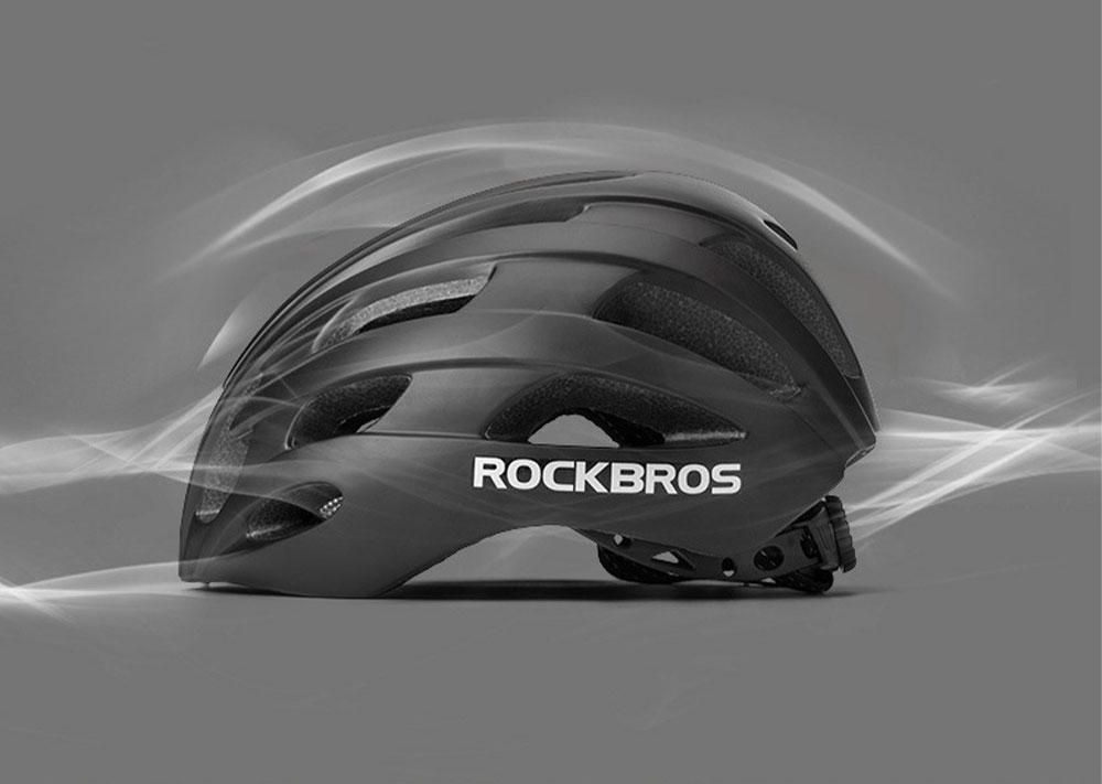 ROCKBROS Reflective Riding Helmet Warning Bicycle Helmet for Night Riding Integrated Helmet Men Riding Helmet for Mountain Road 3
