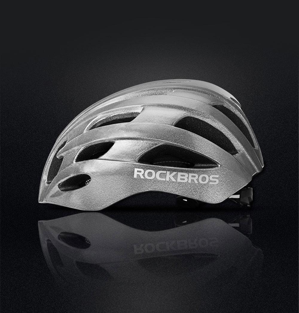 ROCKBROS Reflective Riding Helmet Warning Bicycle Helmet for Night Riding Integrated Helmet Men Riding Helmet for Mountain Road 1