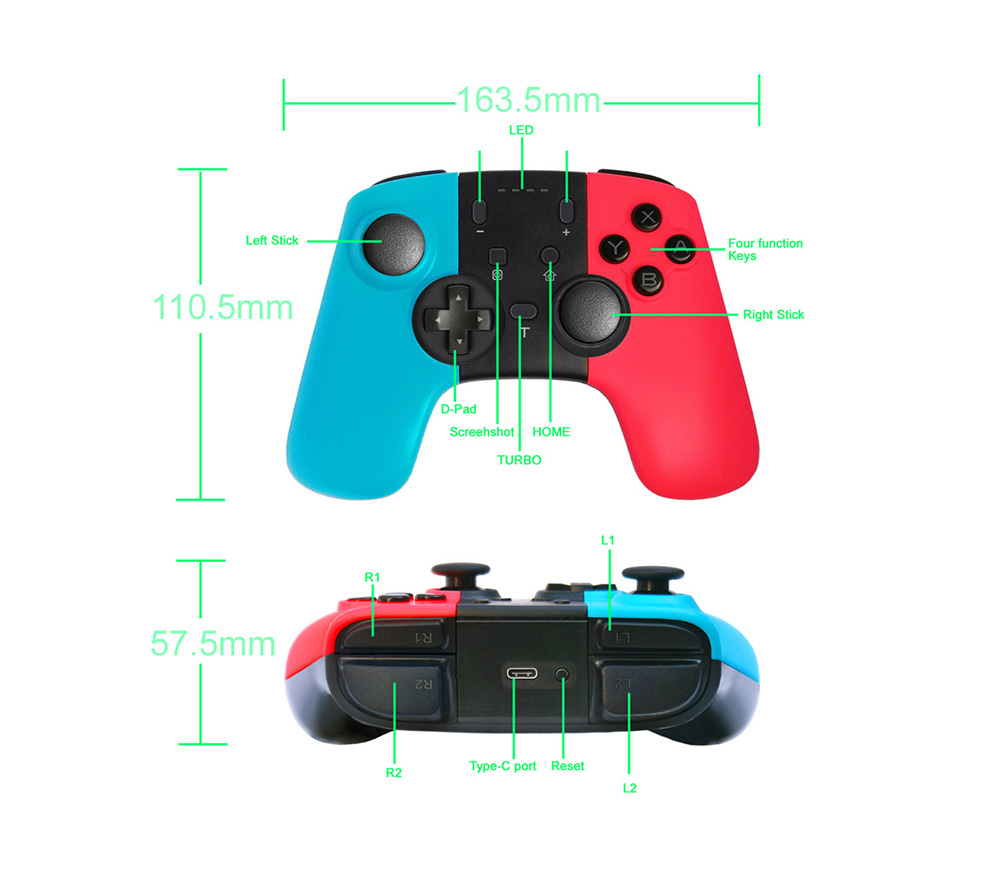 Wireless Game Handle Suitable for Switch and Lite Game Console Handle Bluetooth Wireless Handle PS4 XBO X360 Handle 11