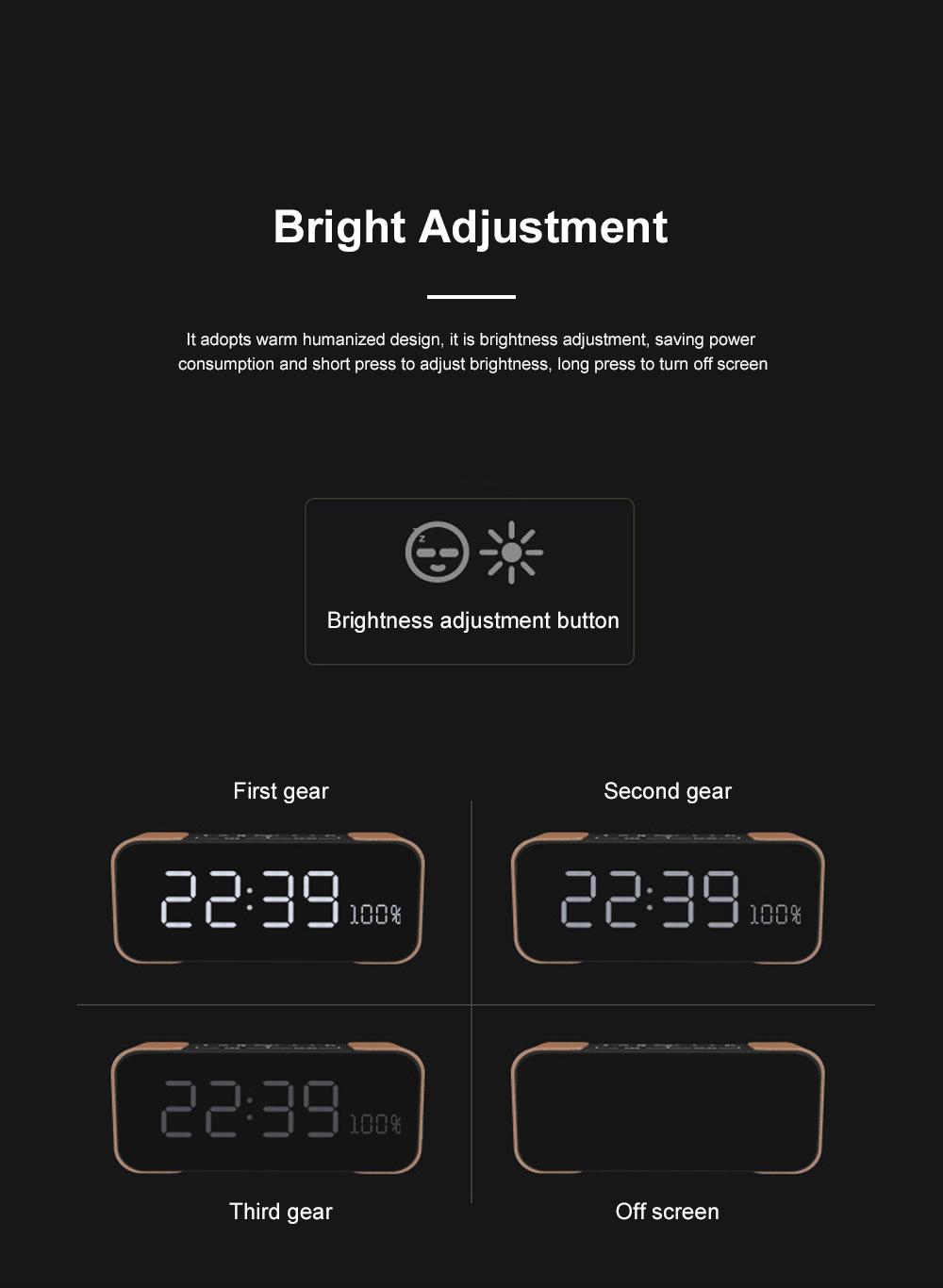 Portable Multimedia Wireless Charging LED Screen Bluetooth Speaker Smart Table Lamp Light Alarm Clock Led Touch Light Speaker 3
