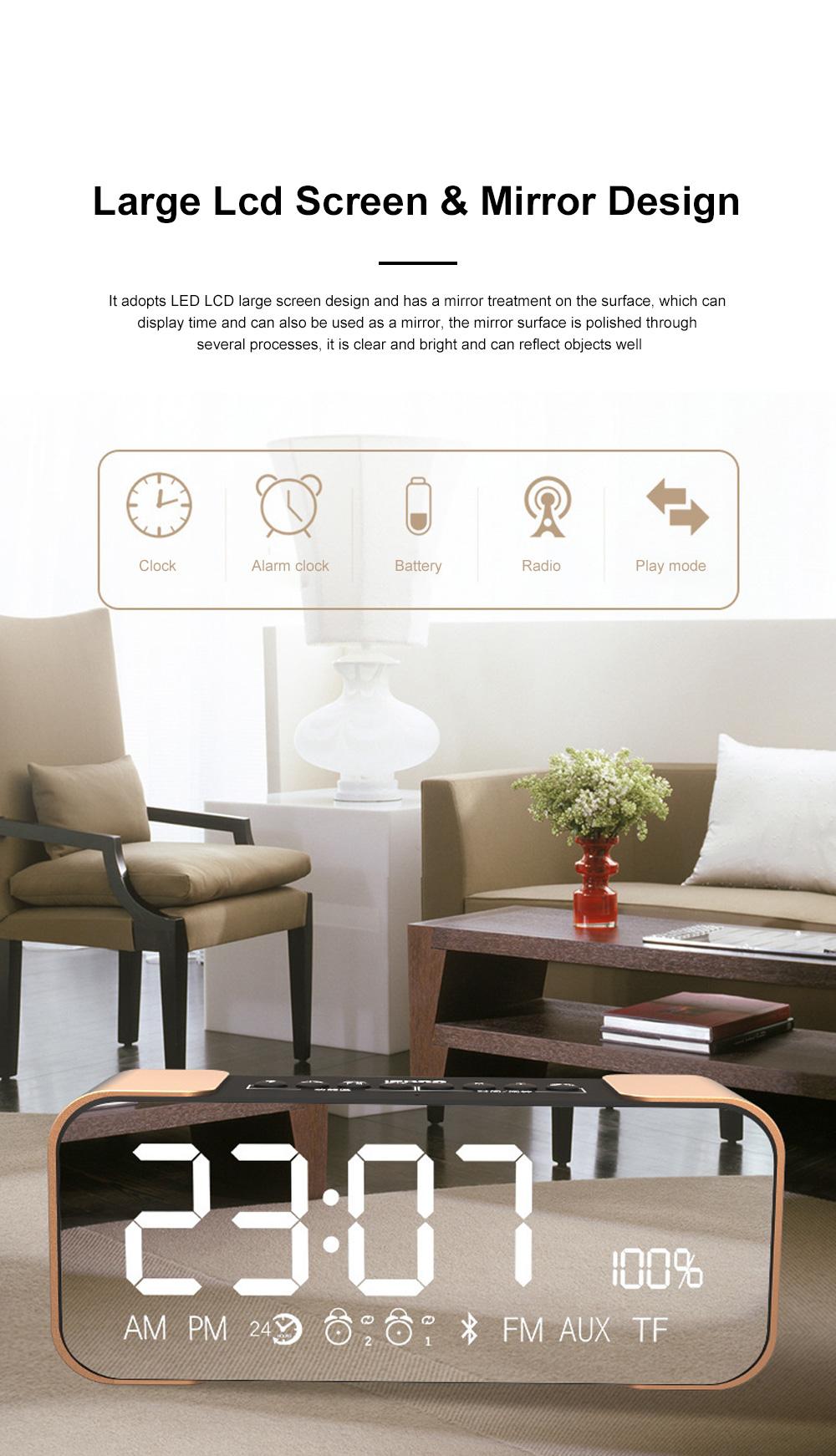Portable Multimedia Wireless Charging LED Screen Bluetooth Speaker Smart Table Lamp Light Alarm Clock Led Touch Light Speaker 6