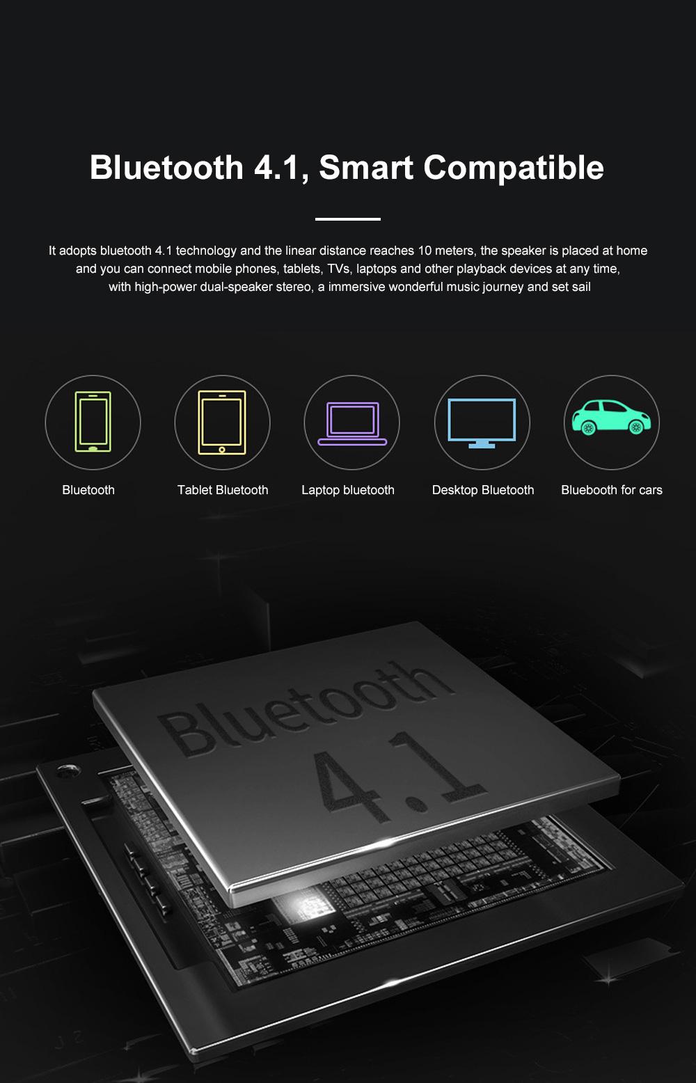 Portable Multimedia Wireless Charging LED Screen Bluetooth Speaker Smart Table Lamp Light Alarm Clock Led Touch Light Speaker 1