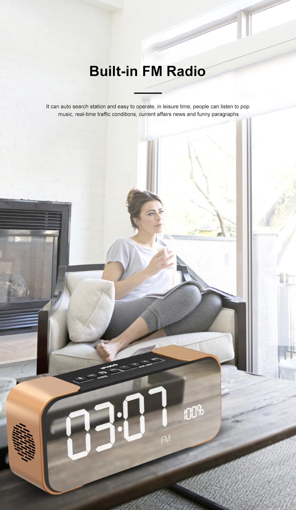 Portable Multimedia Wireless Charging LED Screen Bluetooth Speaker Smart Table Lamp Light Alarm Clock Led Touch Light Speaker 7