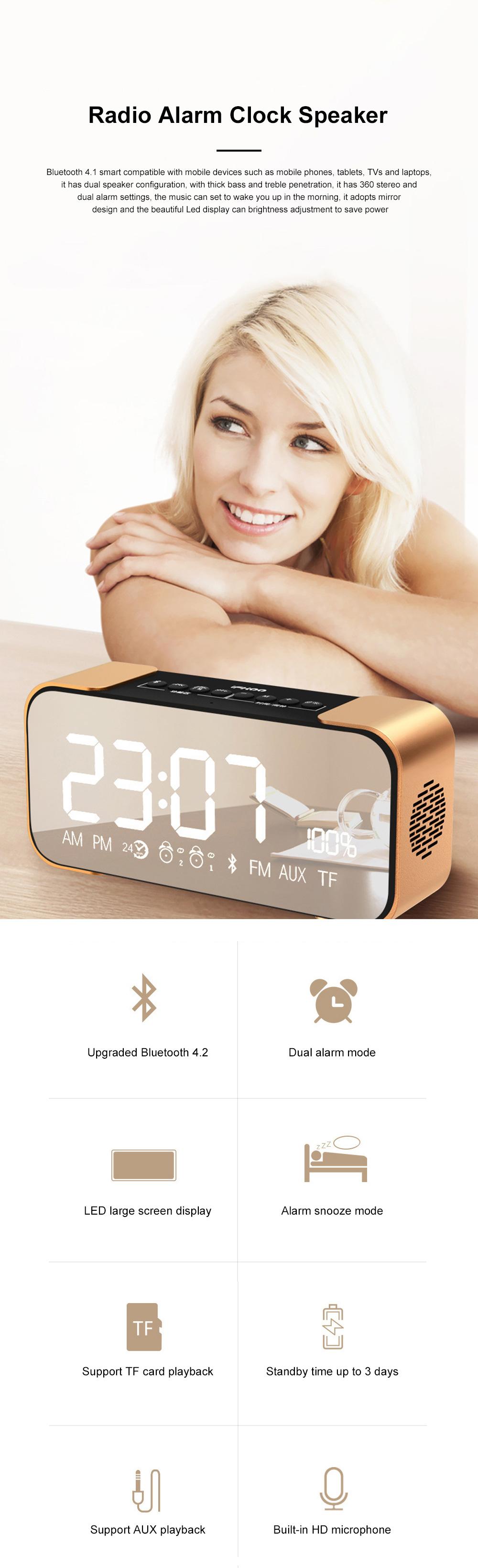 Portable Multimedia Wireless Charging LED Screen Bluetooth Speaker Smart Table Lamp Light Alarm Clock Led Touch Light Speaker 0