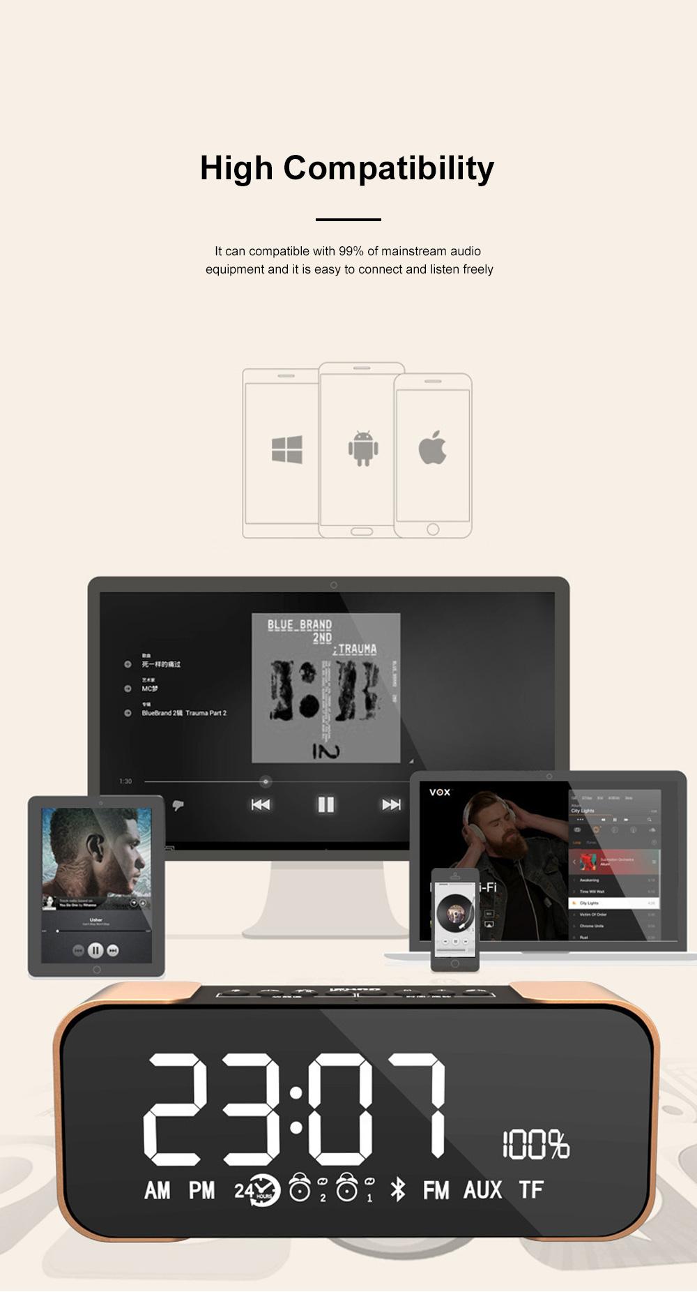 Portable Multimedia Wireless Charging LED Screen Bluetooth Speaker Smart Table Lamp Light Alarm Clock Led Touch Light Speaker 11