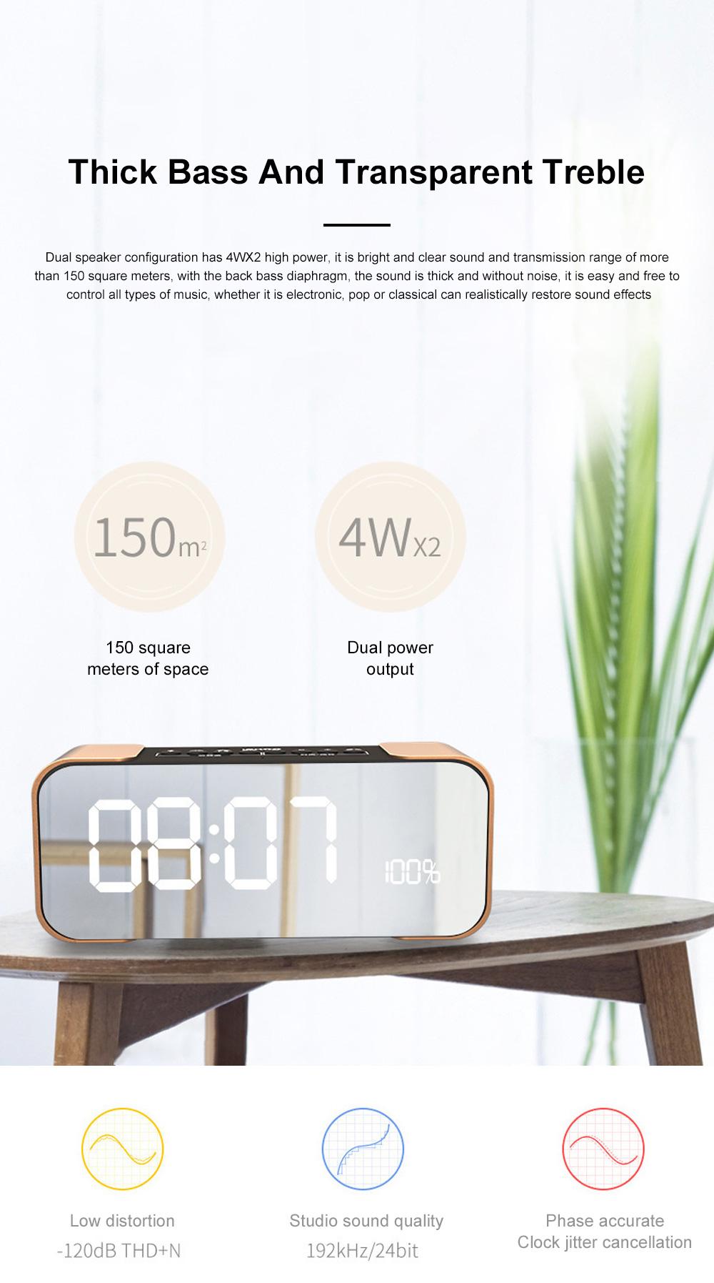 Portable Multimedia Wireless Charging LED Screen Bluetooth Speaker Smart Table Lamp Light Alarm Clock Led Touch Light Speaker 2