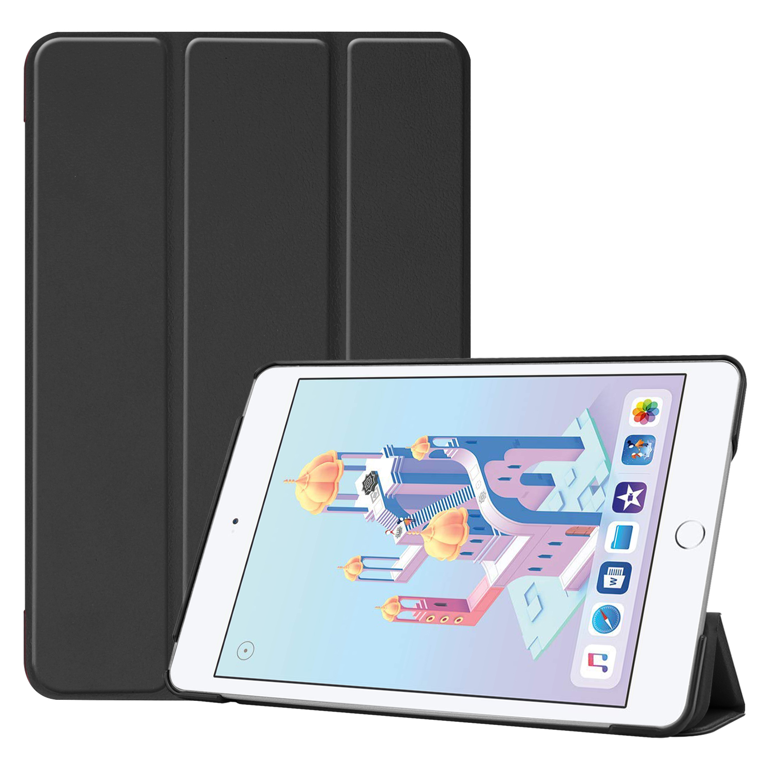 Compatible With iPad Mini 5 4 7.9'' Lightweight Stand Case Full Protection Leather Folding Folio Cover + Free iPad Pen Holder 0