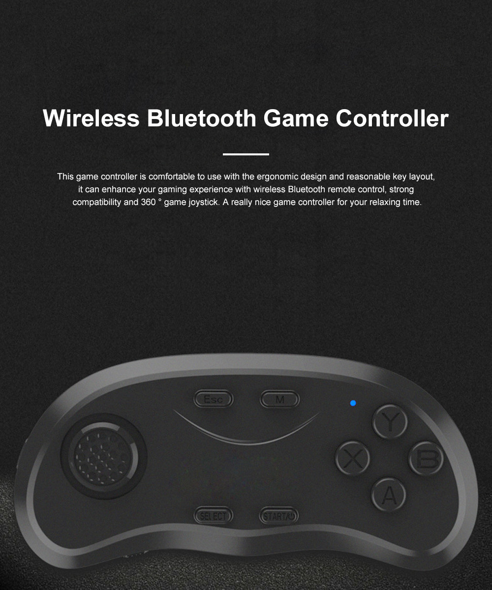 Wireless Bluetooth Game Controller with 360°Joystick Intelligent Remote Game Controller Handle Compatible with Android IOS PC 0