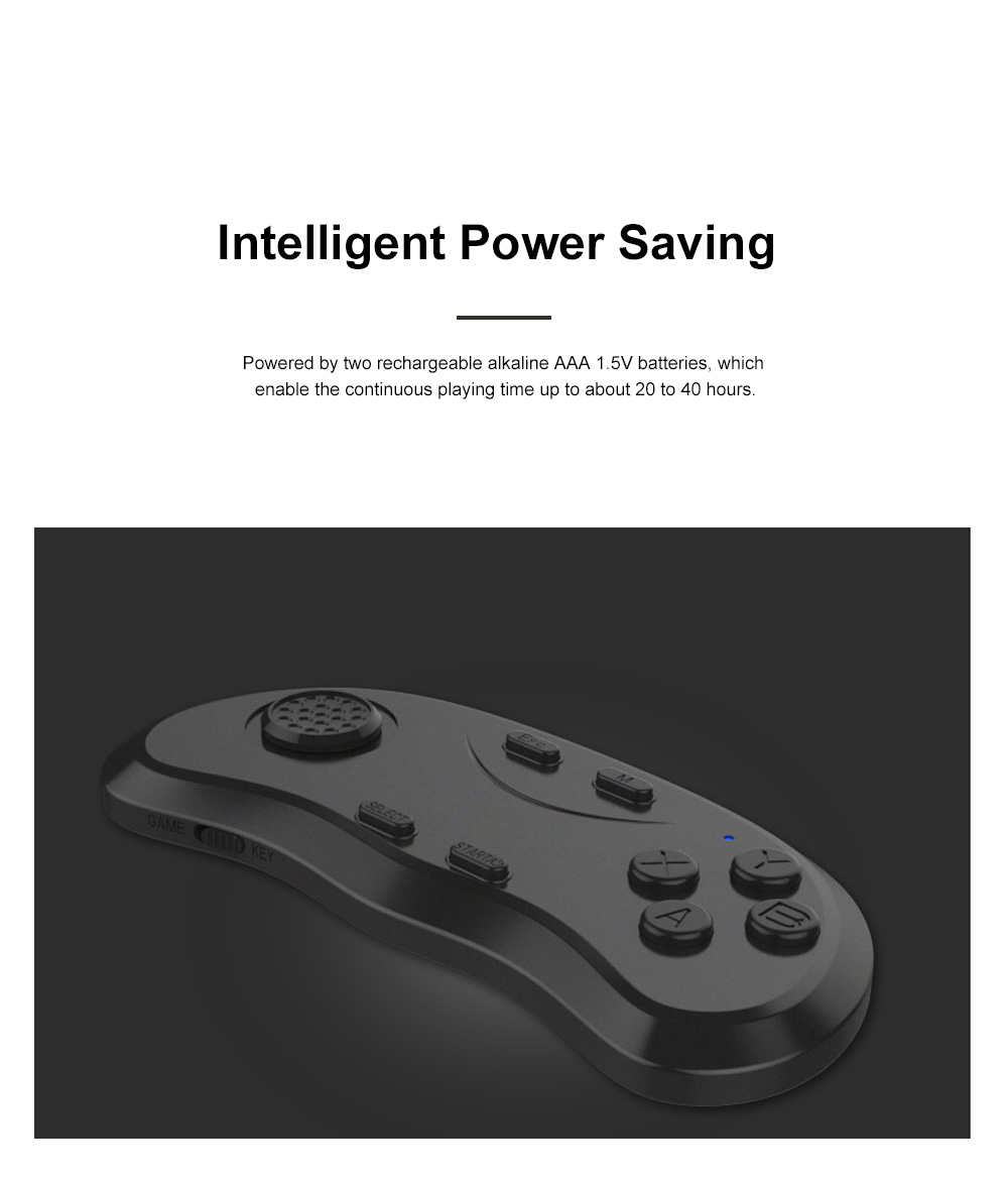 Wireless Bluetooth Game Controller with 360°Joystick Intelligent Remote Game Controller Handle Compatible with Android IOS PC 3