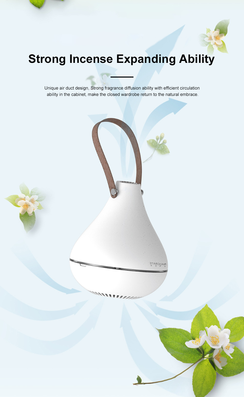 Portable Fragrance Diffuser USB Powered Dust Mite Controller Fragrance Enhancer Machine for Wardrobe Drawer 1
