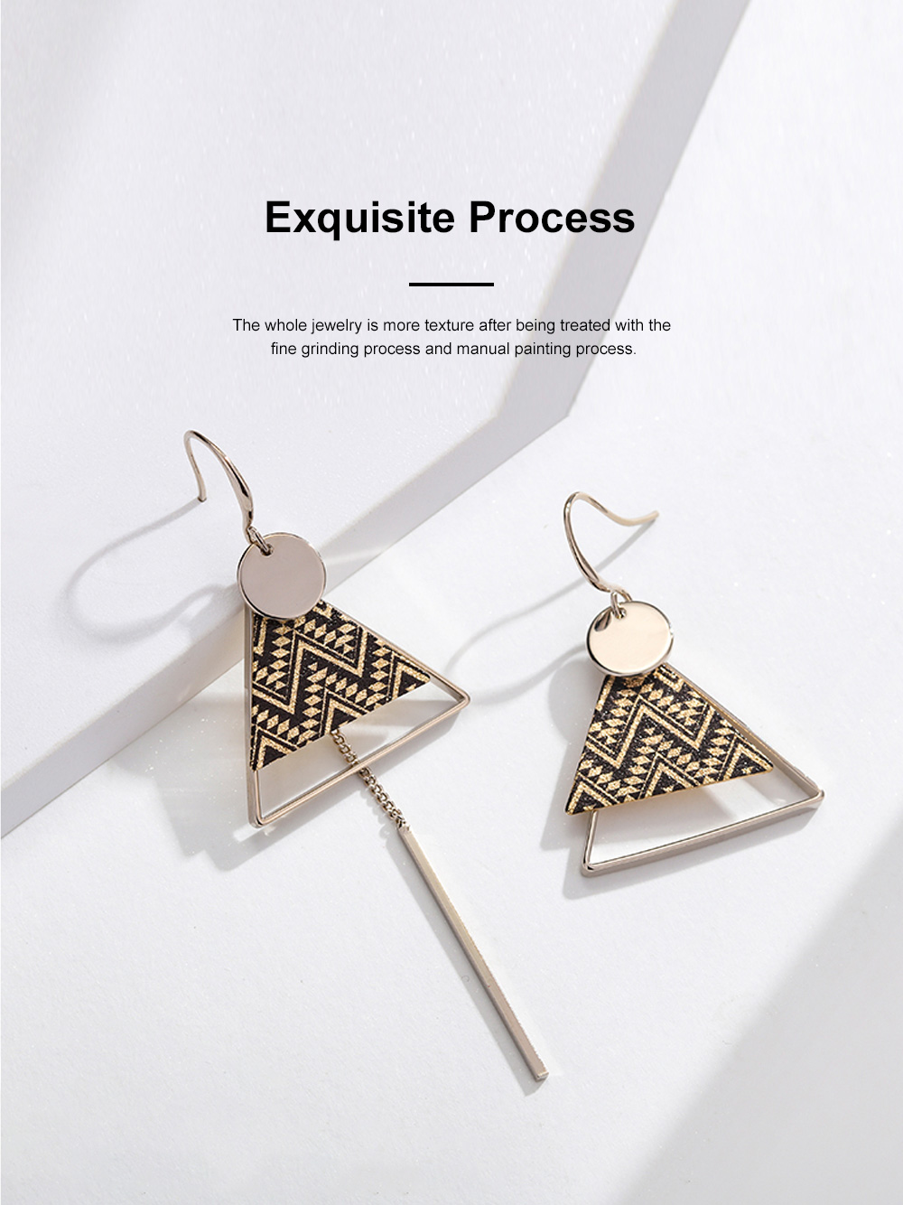 Elegant Holiday Earrings for Women Vocation Style Asymmetrical Earrings with Daisy Peacock Feather Pattern 4