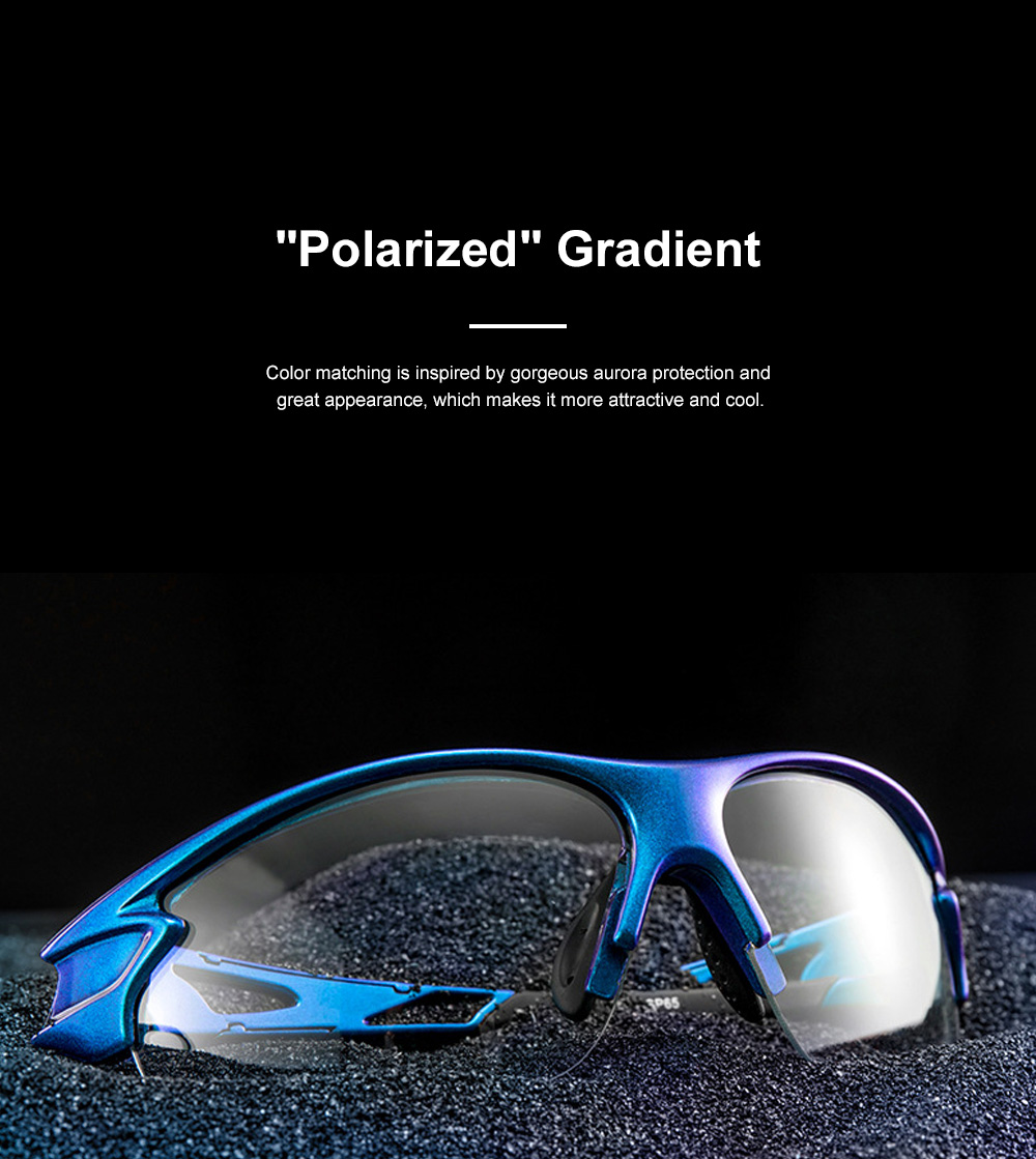 ROCKBROS Polarized Sun Glasses Intelligent Color Shifting UV Protection Glasses with High Toughness PC Lens for Outdoor Sport 2