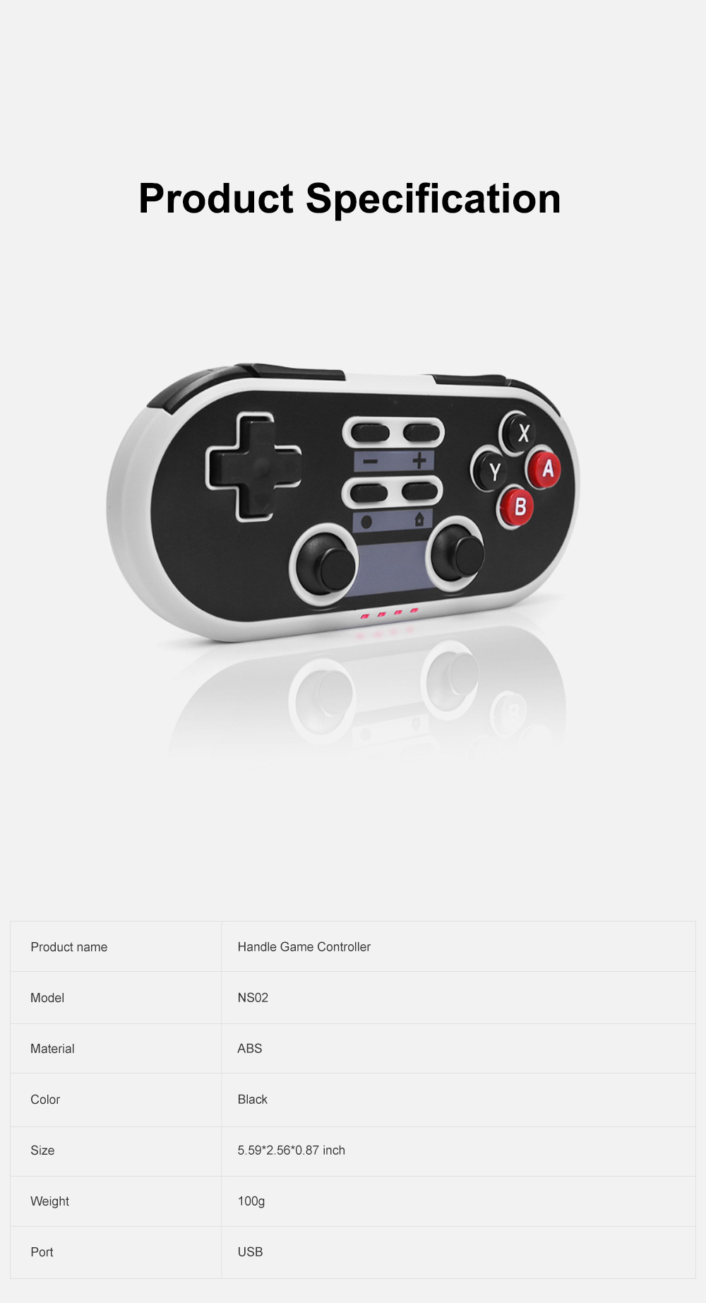For Switch PS3 Handle Game Controller Mobile Game Connector Retro Game Console with Strong Compatibility and Sensitive Reaction 6