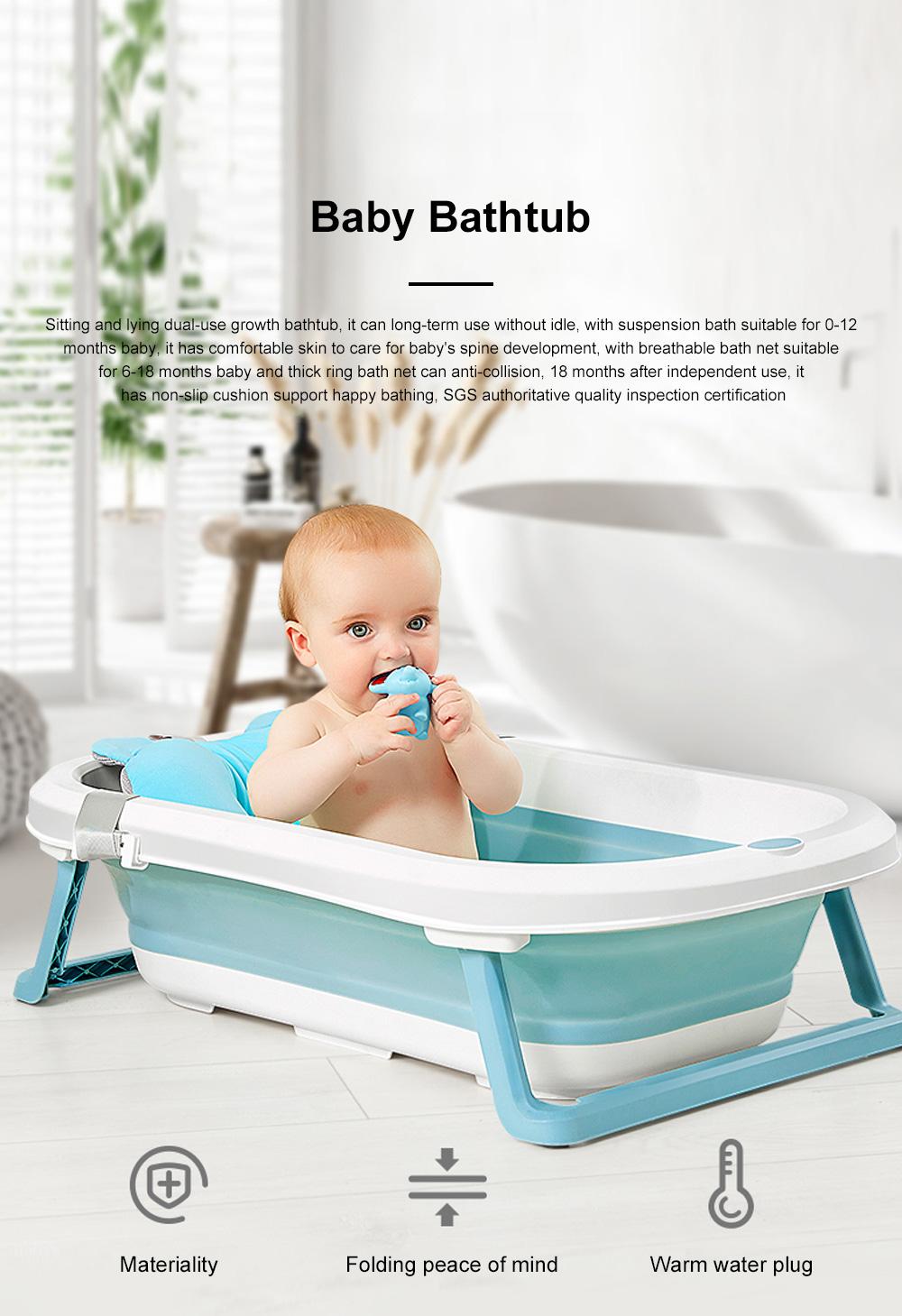 Portable Folding Baby Bath Tub Anti-Slip Bottom Non-Toxic Material Children Bathtub Bucket For Baby within 5 Year Old 0