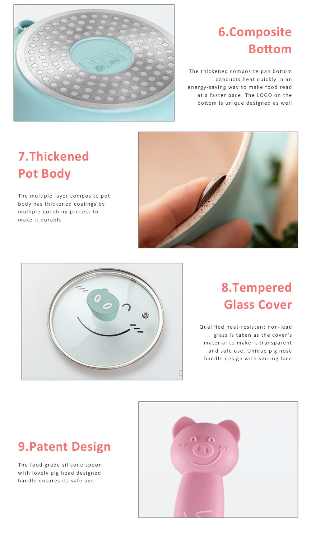 Didinika Cookware for Baby Food Making Multifunctional Non-stick Medical Stone Pot Infant Milk Pan Korean Style Medical Stone Pot 8