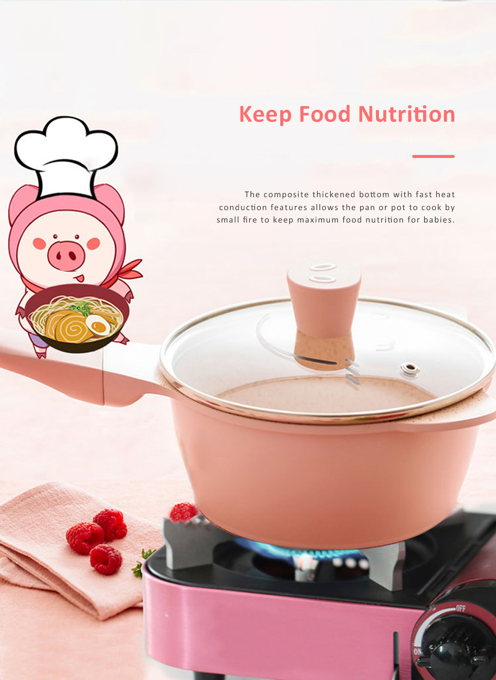 Didinika Cookware for Baby Food Making Multifunctional Non-stick Medical Stone Pot Infant Milk Pan Korean Style Medical Stone Pot 2