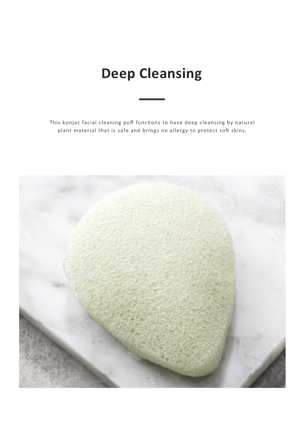 Jordan & Judy Konjac Sponge Facial Cleaning Puff for Face Deep Cleaning Facial Puff Konjac Facial Clean Buffer Sponge 4