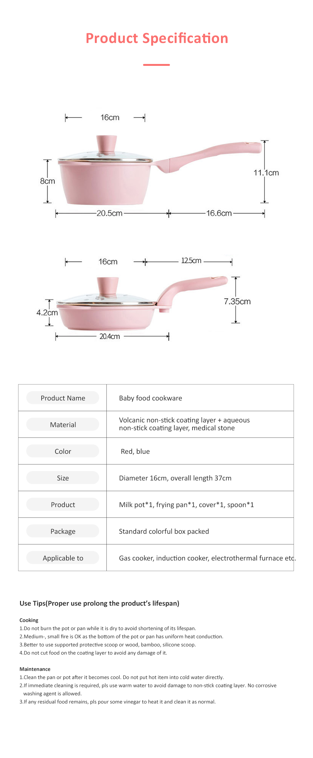 Didinika Cookware for Baby Food Making Multifunctional Non-stick Medical Stone Pot Infant Milk Pan Korean Style Medical Stone Pot 9