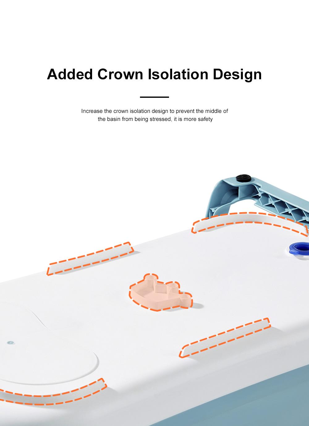 Portable Folding Baby Bath Tub Anti-Slip Bottom Non-Toxic Material Children Bathtub Bucket For Baby within 5 Year Old 9
