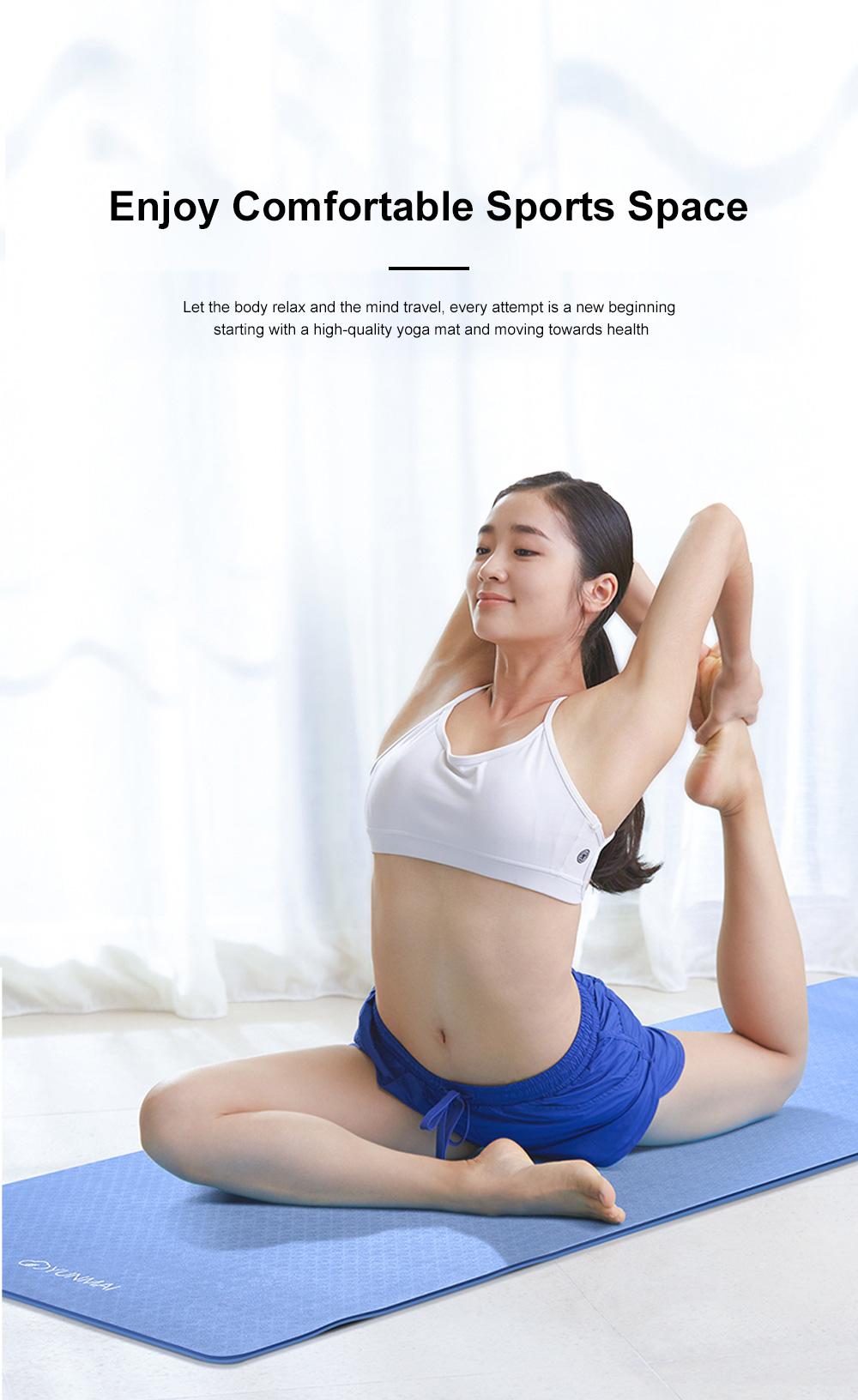 Yunmai Sport Yoga Mat Eco Friendly Durable Yoga Mat Thick Fitness Foldable Travel Exercise Non Slip Yoga Blanket 4